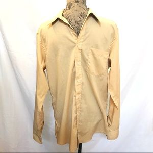 Christian Dior gold yellow casual dress shirt